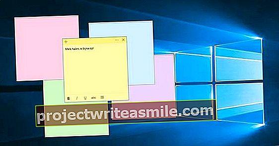 Lim inn skjermen full av klistrelapper i Windows 10