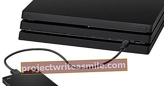 Koble en ekstern harddisk til PlayStation 4