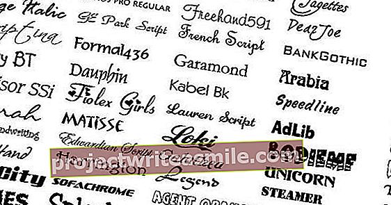 Nájdenie krásnych typov písma: takto môžete nájsť dané písmo
