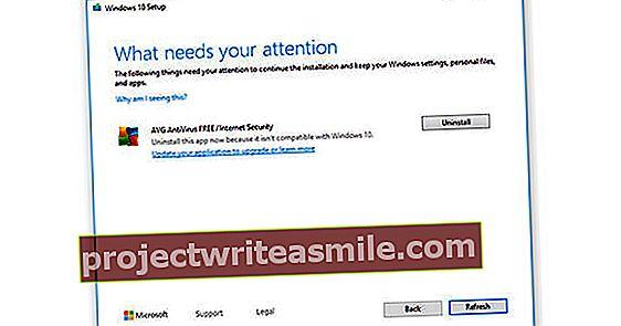 Aktualizácia systému Windows 10 vyžaduje novú verziu antivírusov AVG a Avast