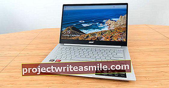 Acer Swift 3 SF314 - kena ja sujuv tänu AMD Ryzenile